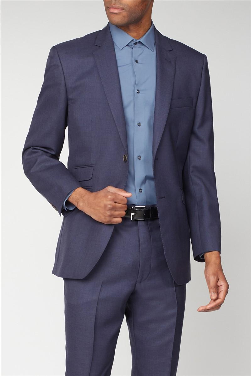 Esteem Blue Sharkskin Suit