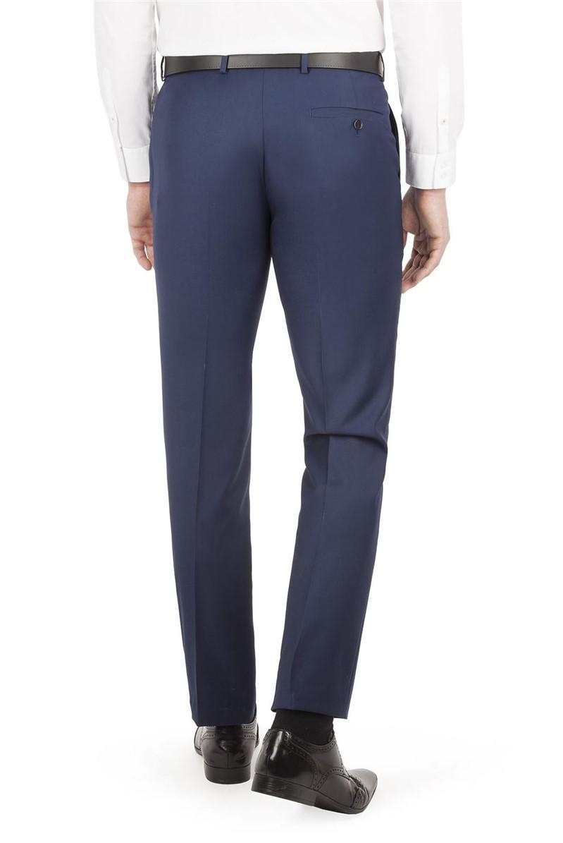 Sapphire Twill Slim Fit Suit Trouser