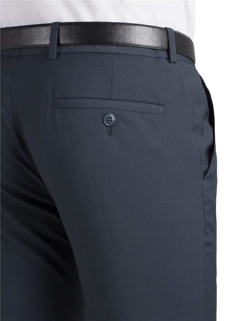 Teal Twill Super Slim Fit Suit Trouser