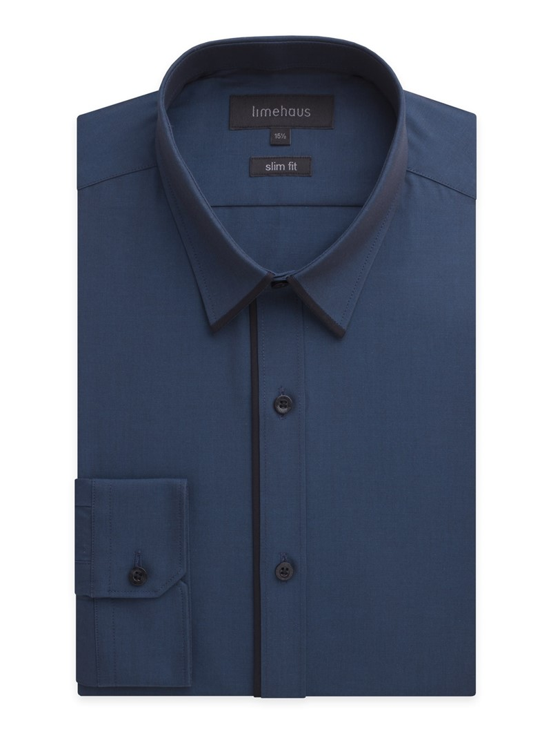 Teal Tonic Shirt Tipped with Black