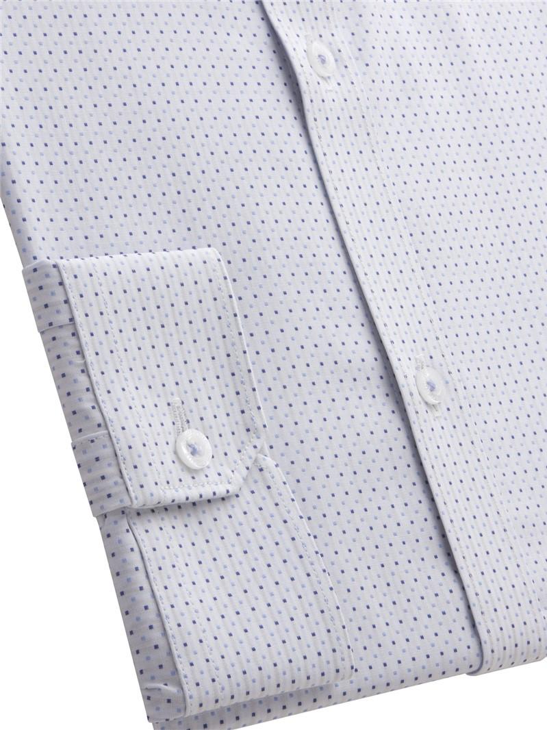 Blue Dot Jacquard Shirt