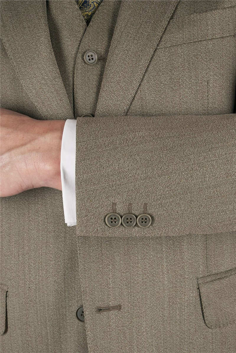 Taupe Twill Country Suit Jacket