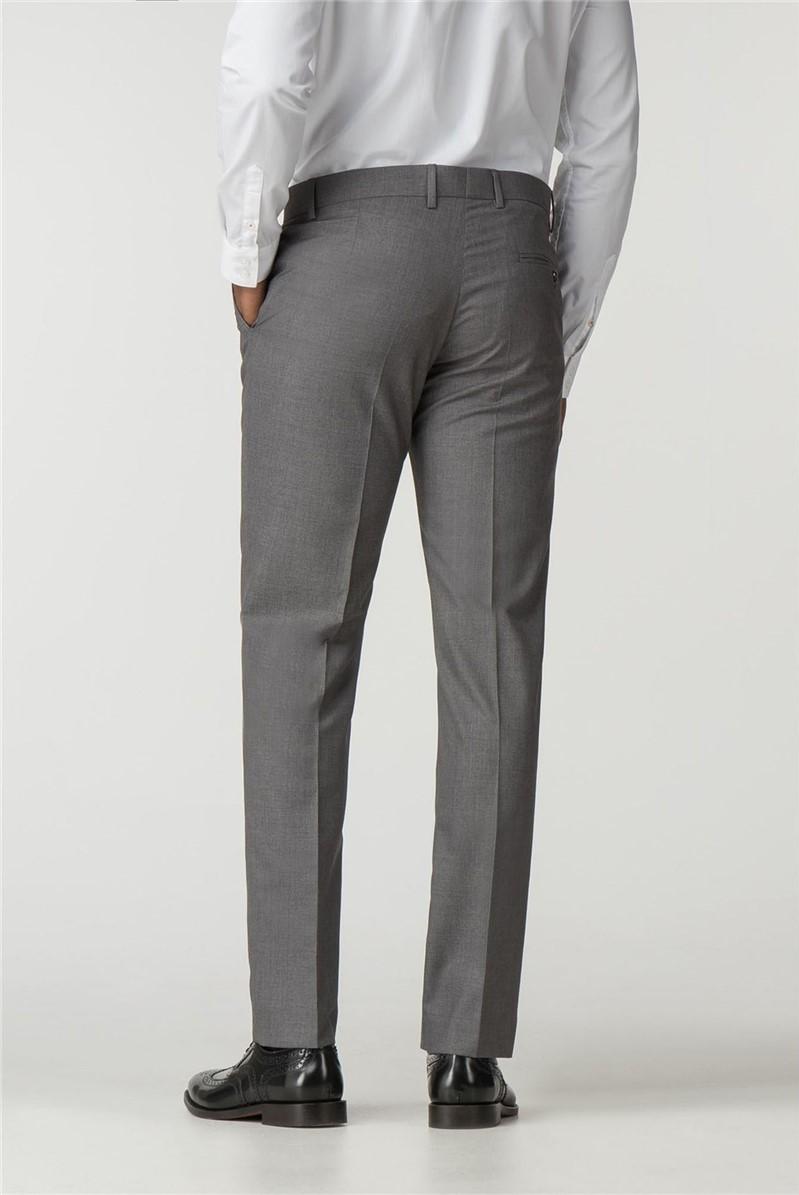 Grey Slim Fit Suit Trouser