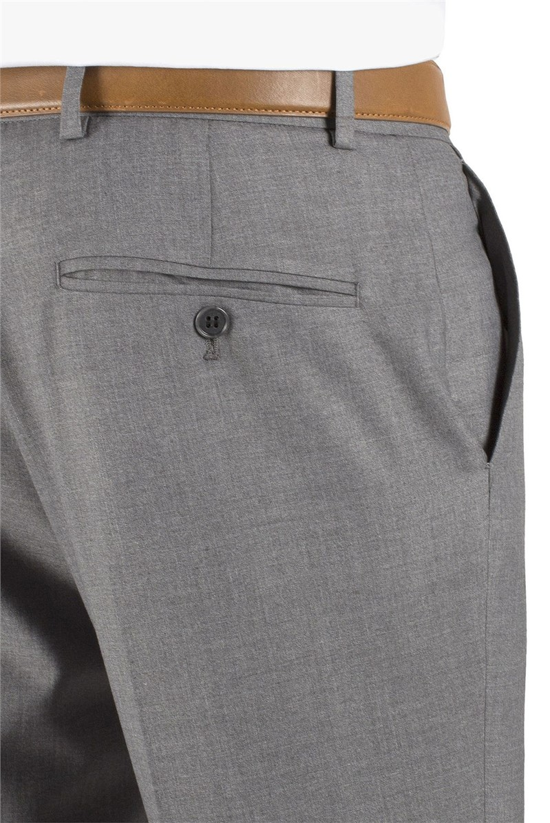 Grey Tailored Fit Suit Trouser