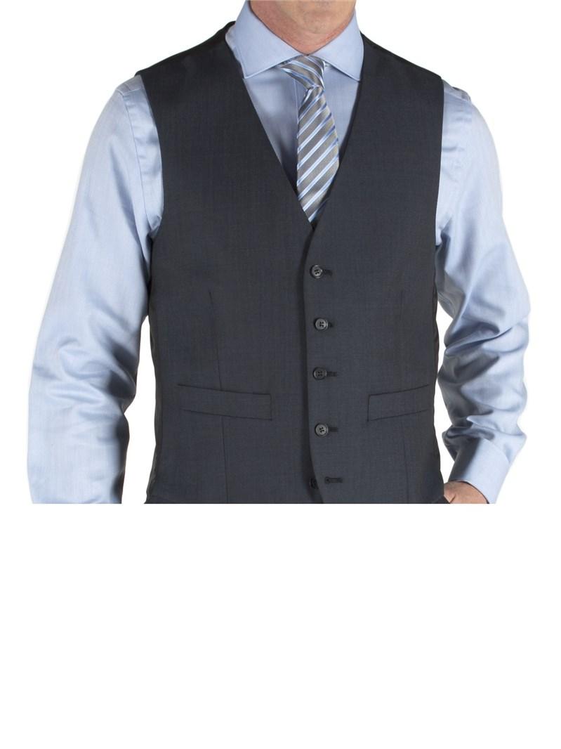 Blue Tonic Wool Blend Waistcoat