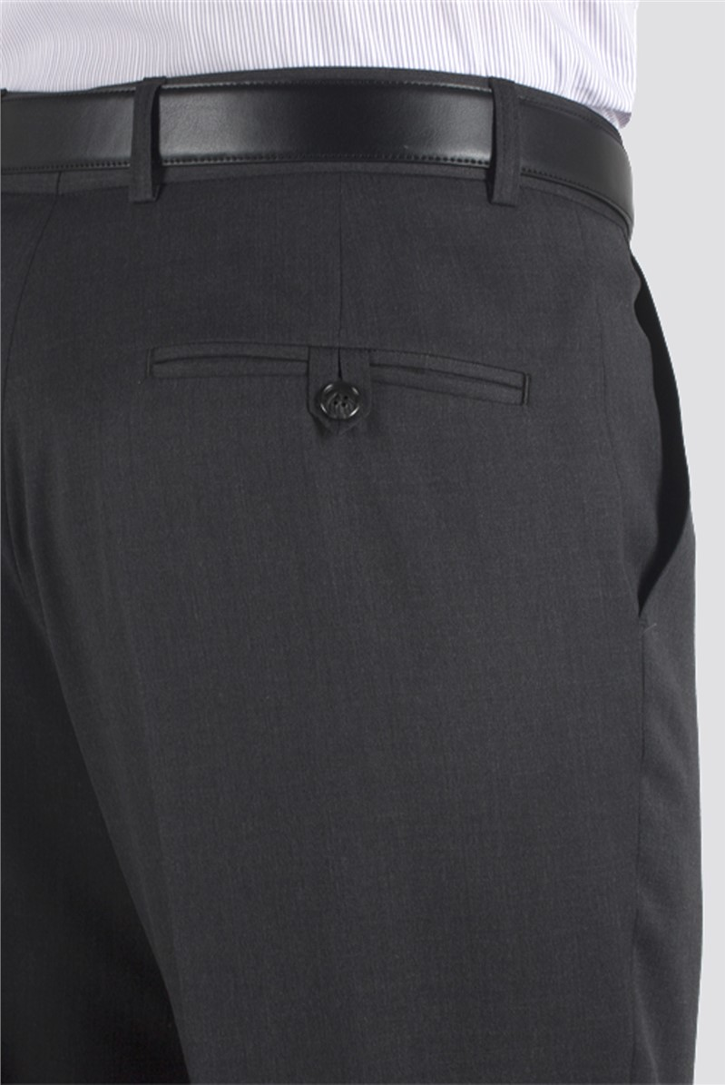 Charcoal Twill Regular Fit Suit Trouser