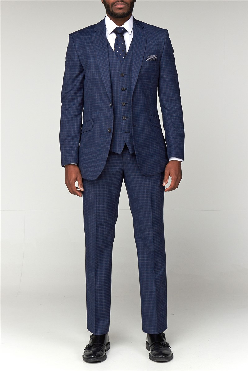 Blue Checked Suit