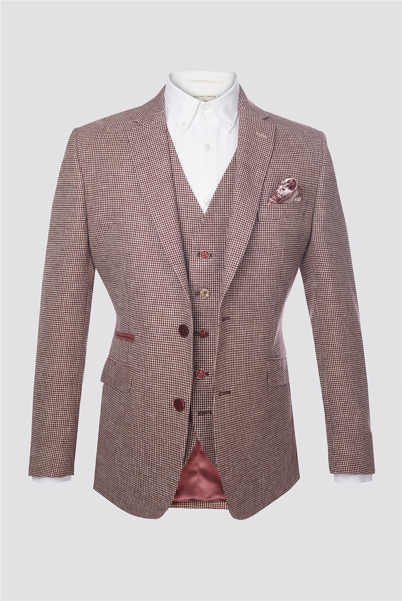 Berry Dogtooth Contemporary Jacket