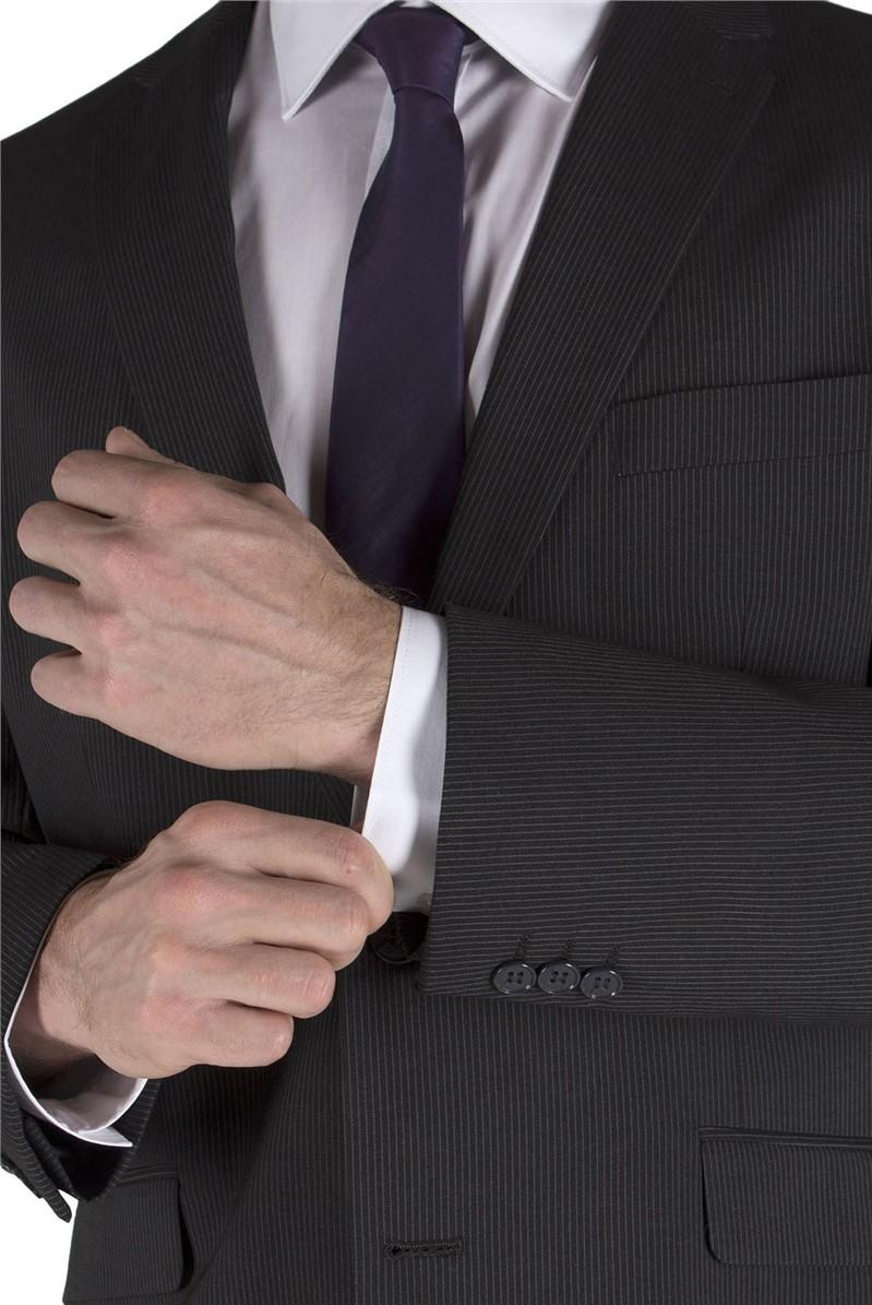 Charcoal Stripe Suit Jacket