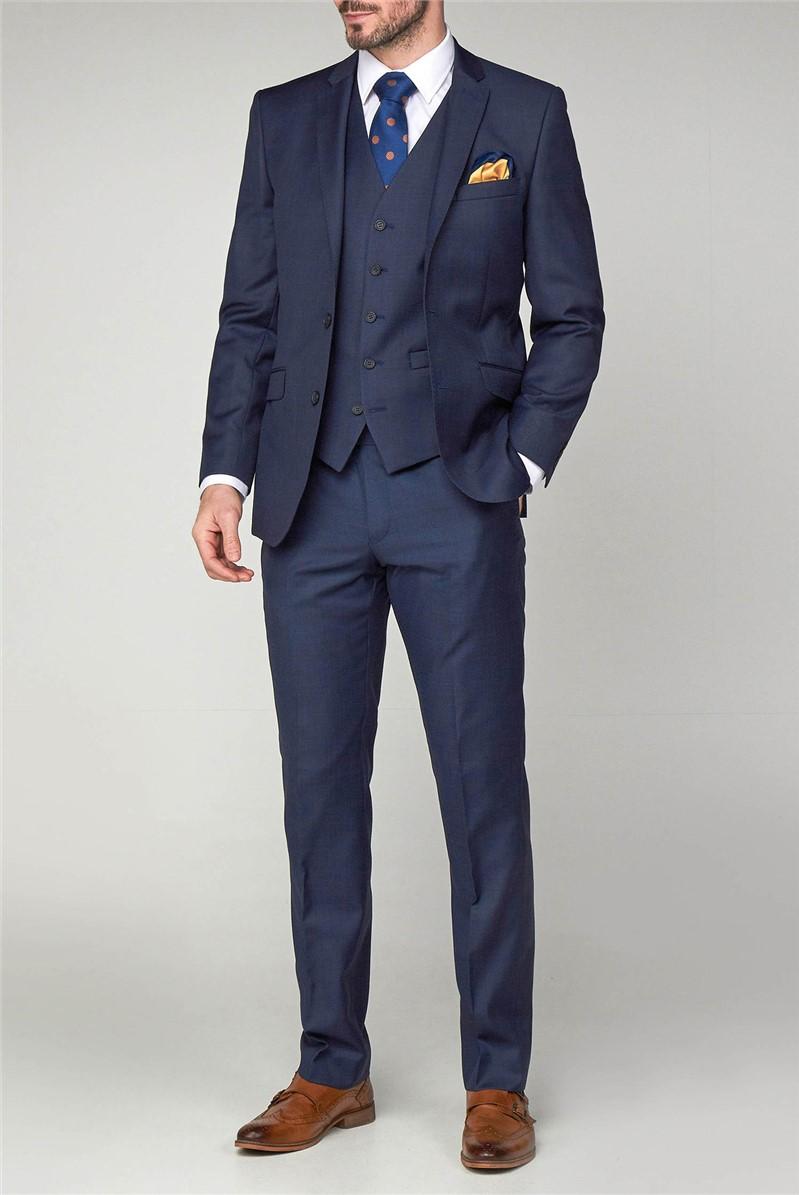 Ink Blue Sharkskin Trouser