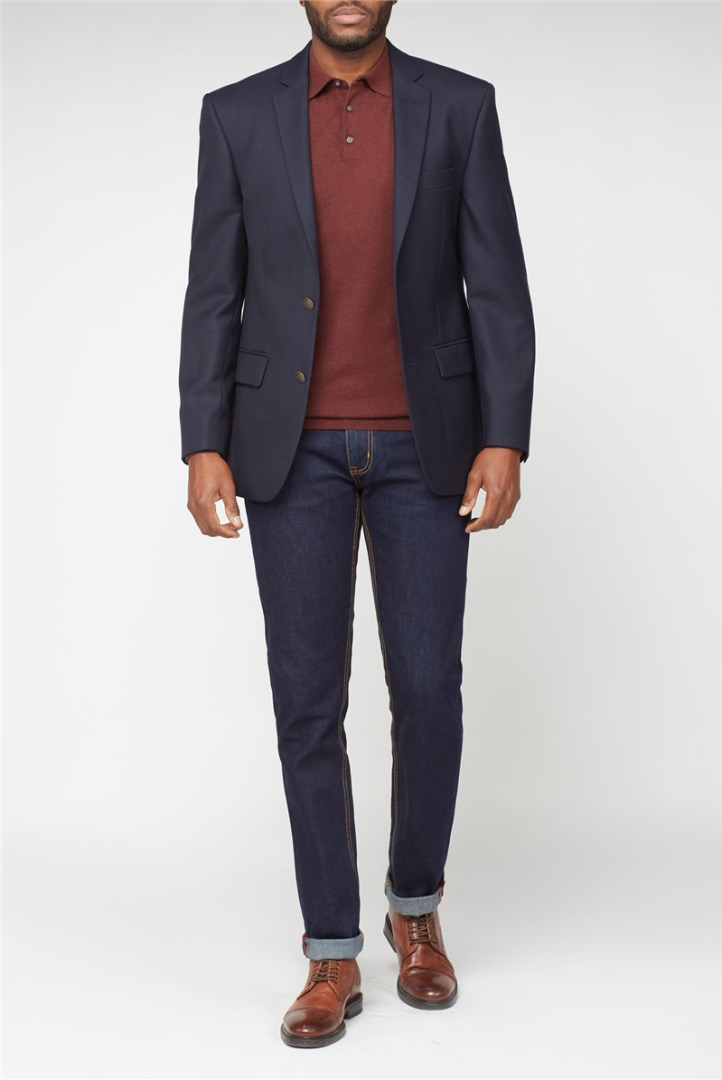Navy Twill Jacket Blazer