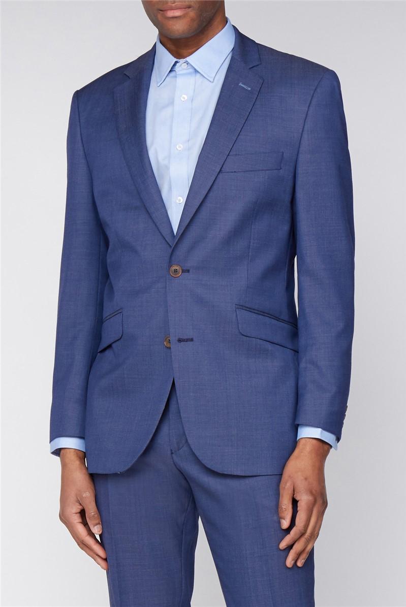 Navy Classic Fit Pindot Suit