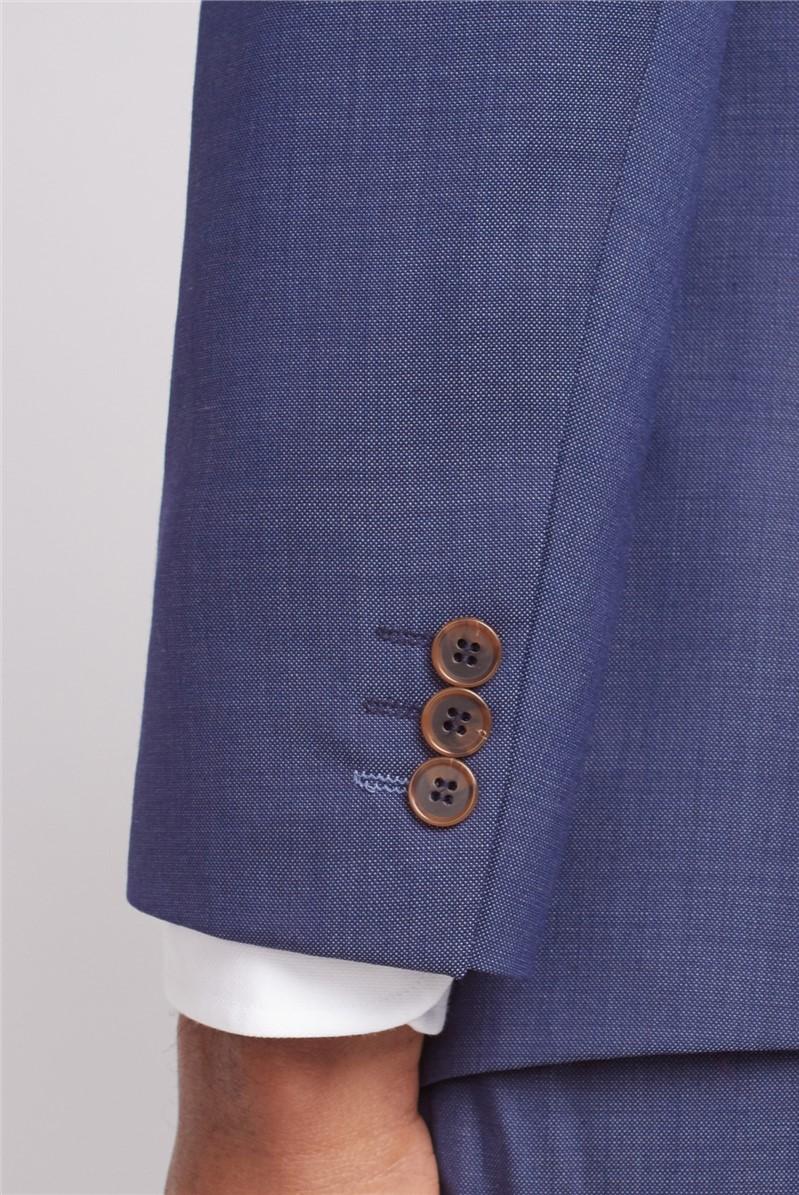 Navy Slim Fit Pindot Suit