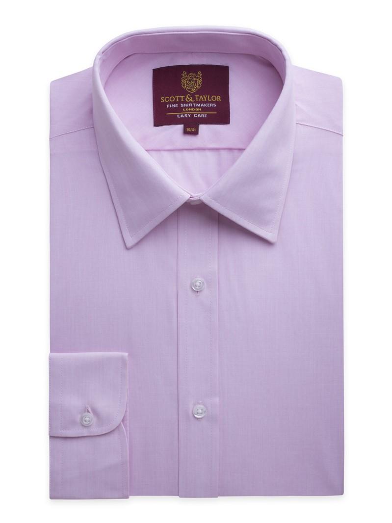 Pink end on end regular shirt
