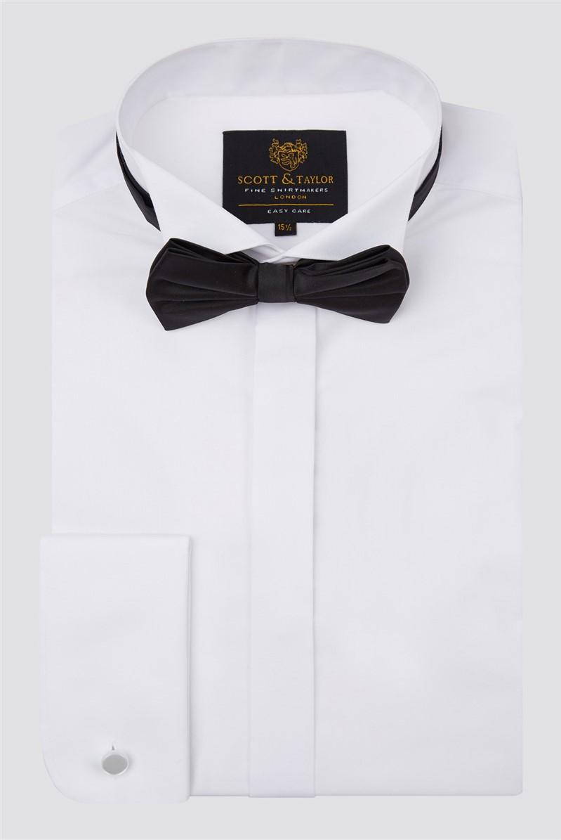 White Wing Collar Shirt & Bow Tie Set