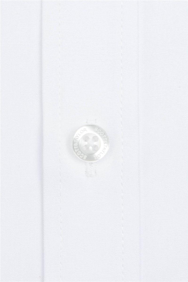 White Poplin Short Sleeve Shirt