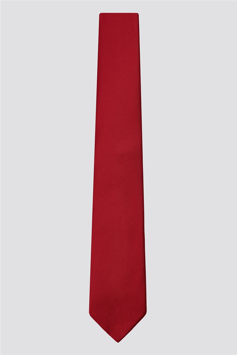 Red Plain Tie