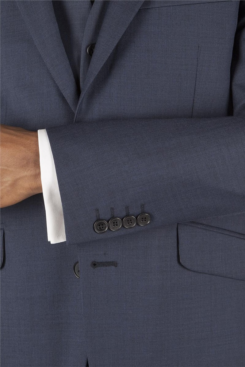 Navy Pick & Pick Tailored Fit Suit