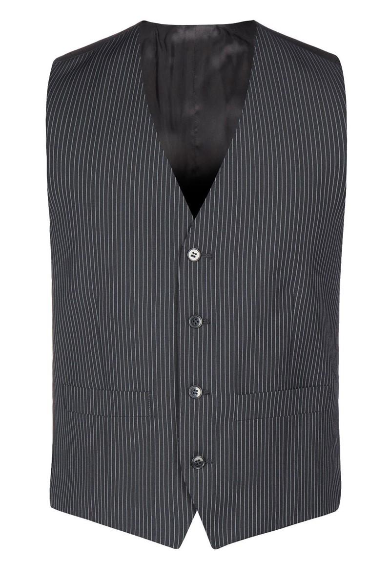 Black Narrow Stripe Waistcoat