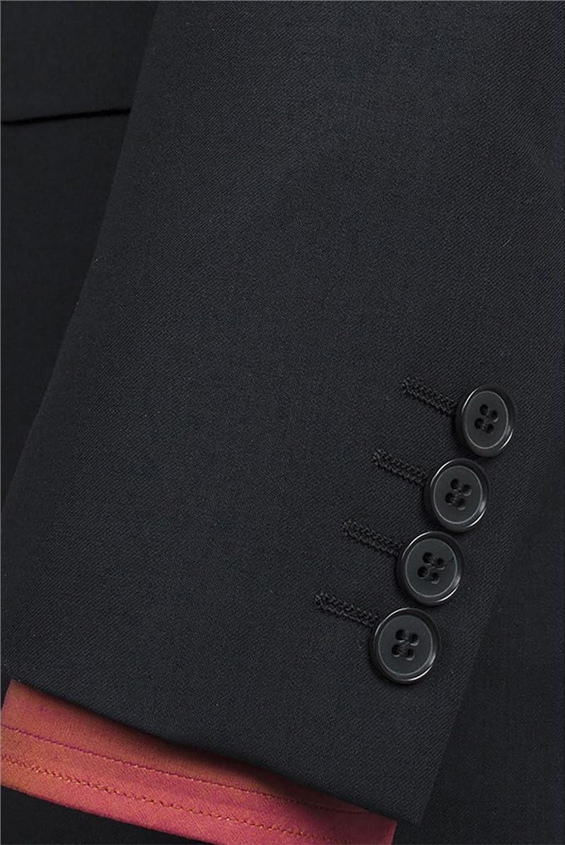 Black Plain Travel Suit Jacket
