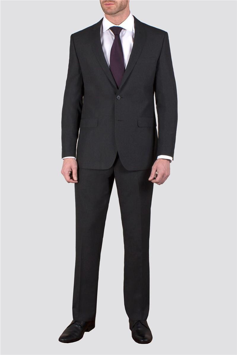 Charcoal Plain Weave Jacket