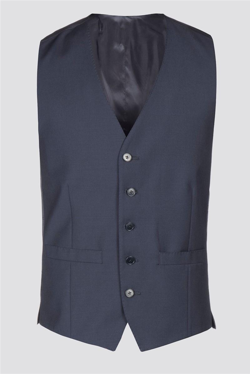 Plain Blue Waistcoat