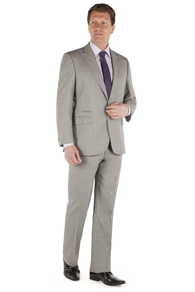 Light Grey Sharkskin Suit Jacket