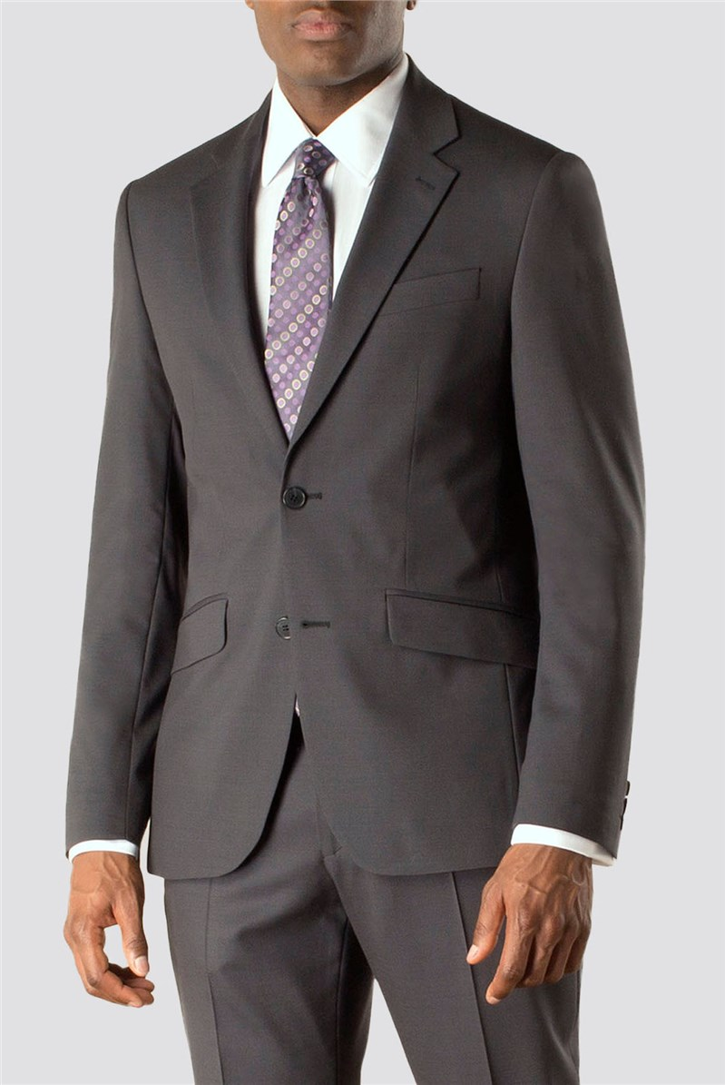 Stvdio by Jeff Banks Charcoal tonic 2 button front soft tailoring suit jacket