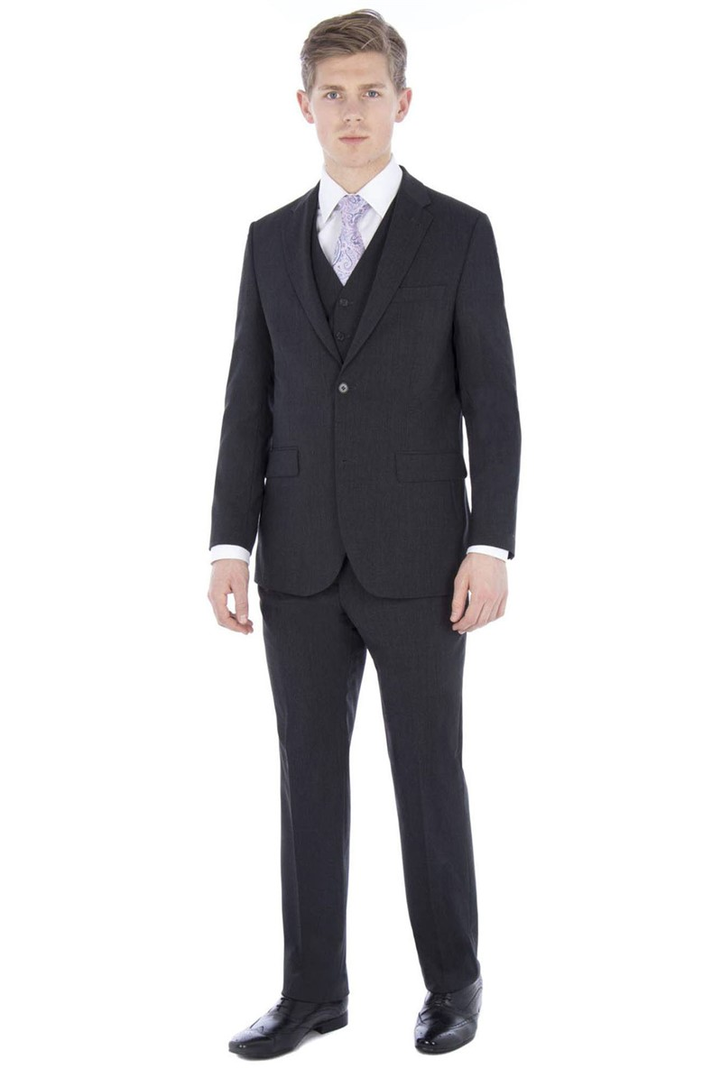 Charcoal Travel Regular Fit Suit