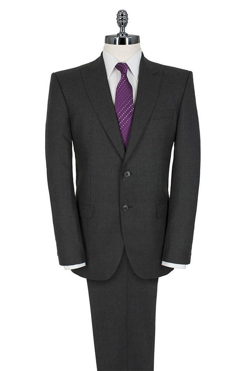 Grey Plain Hopsack Tailored Fit Suit