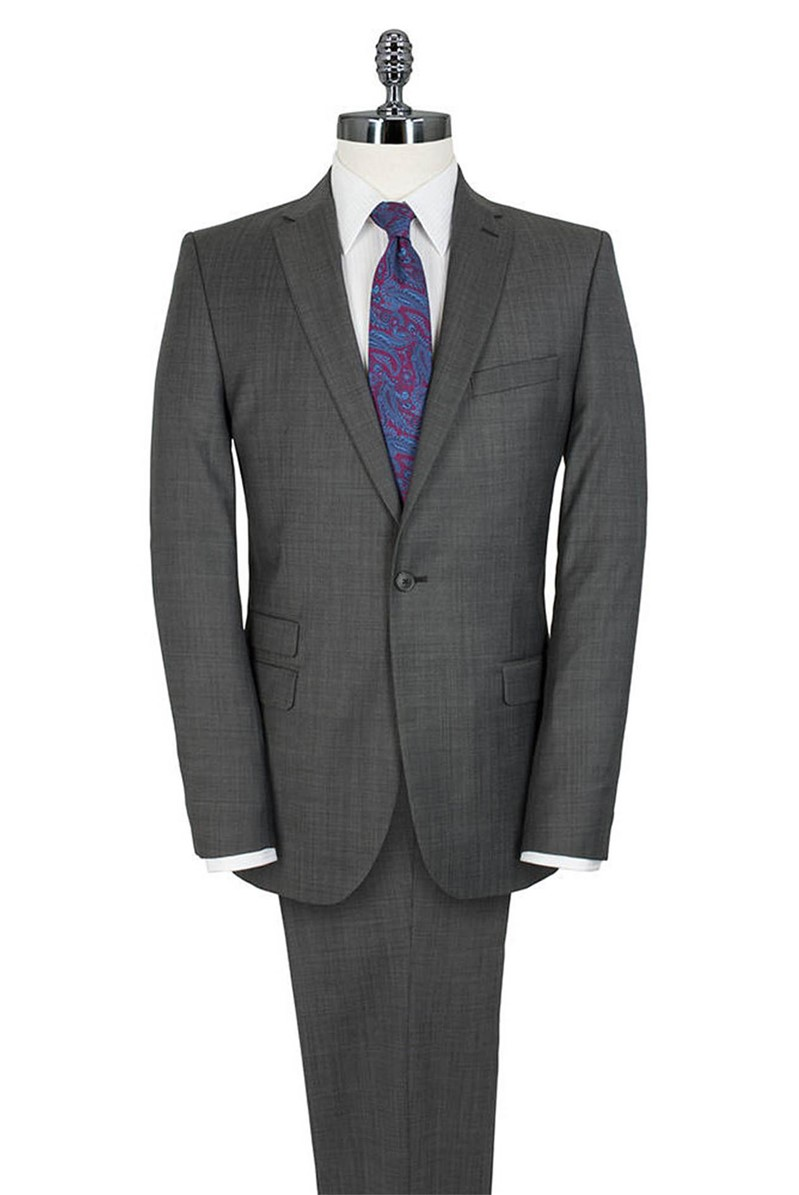Grey Micro Dot Tailored Fit Suit