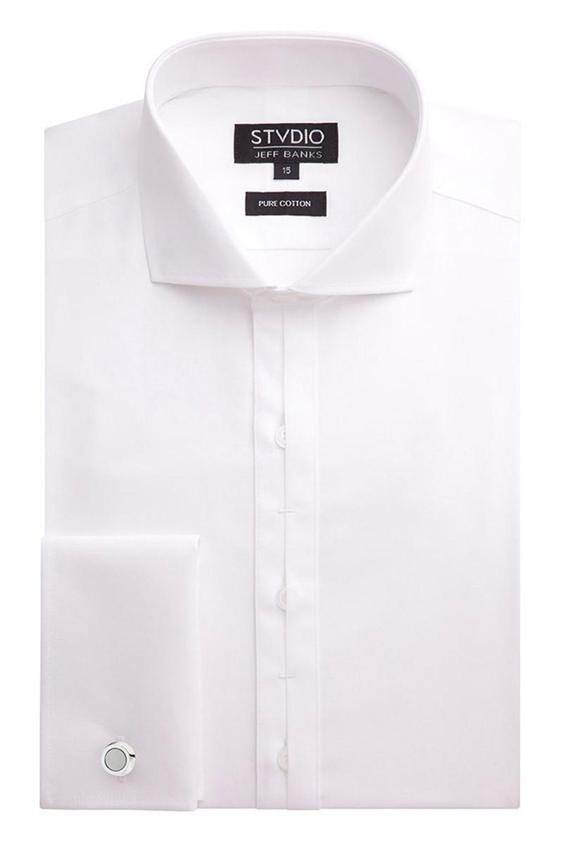 Stvdio White Poplin Slim Fit Shirt