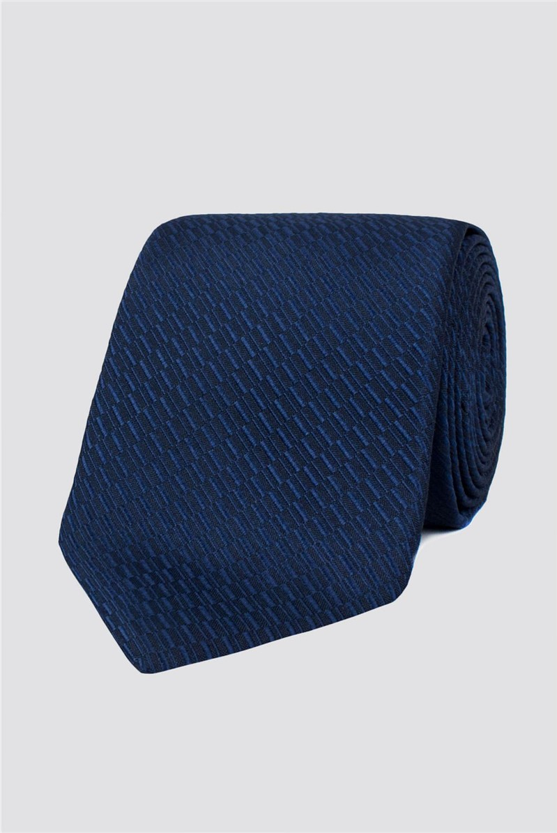 Stvdio Navy Irregular Textured Tie