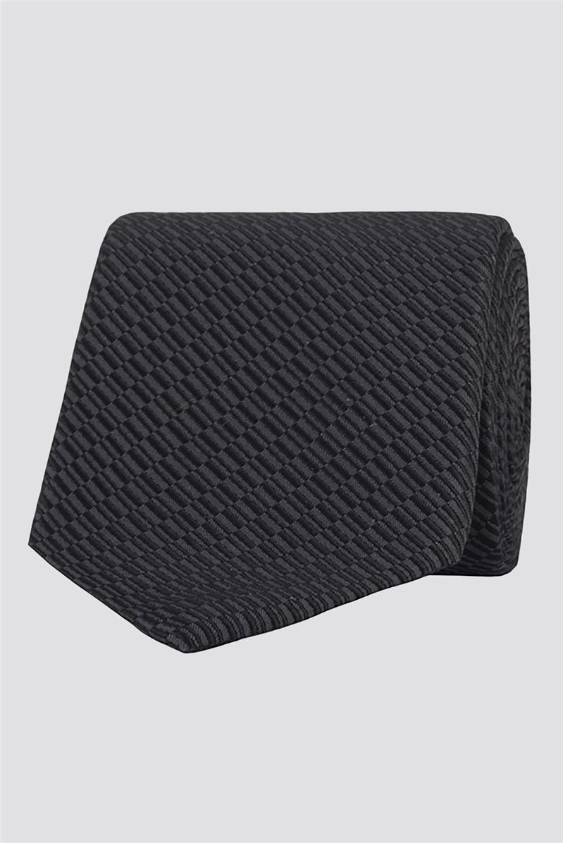 Stvdio by  Grey Irregular Textured Silk Tie