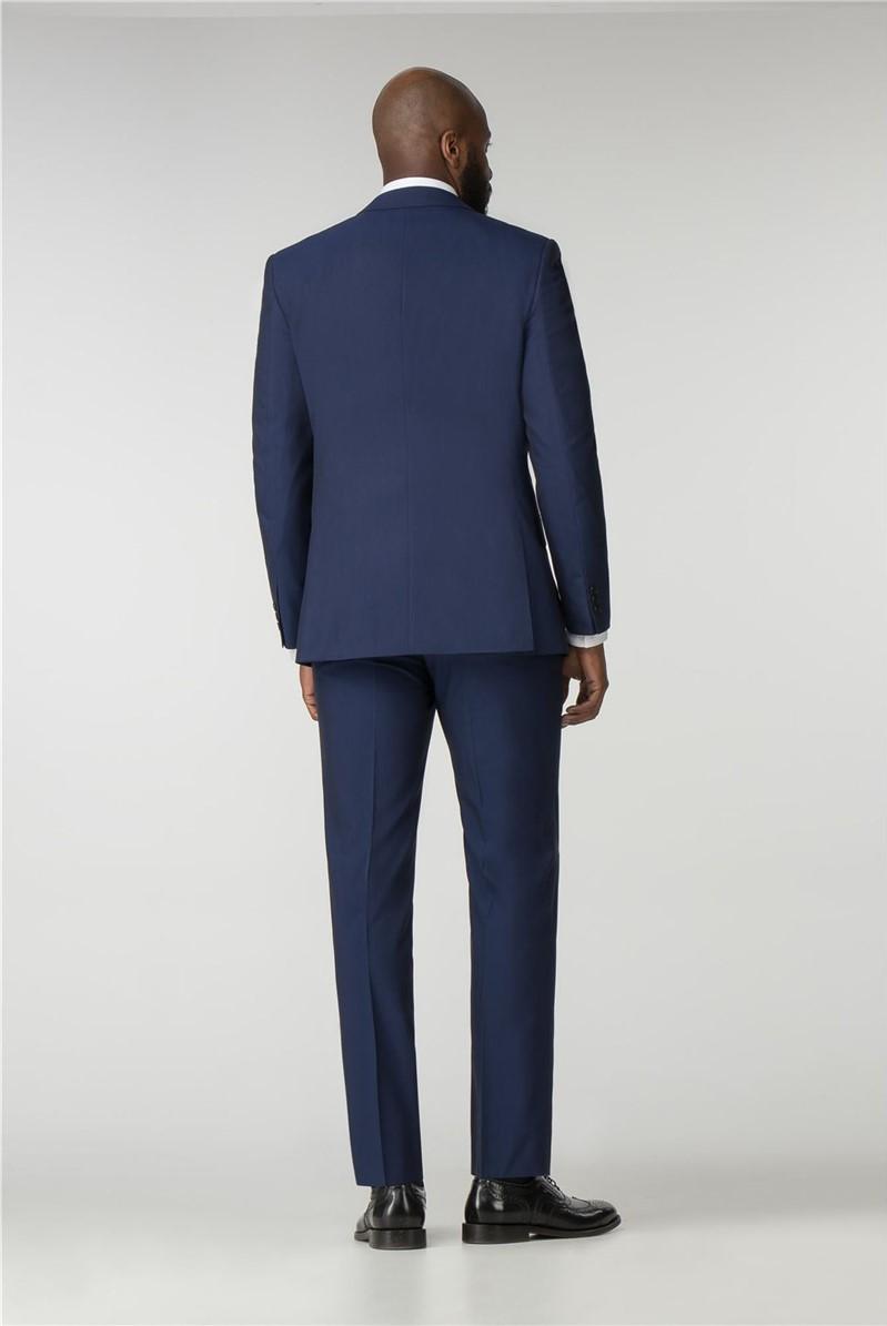 Blue Plain Tailored Fit Jacket