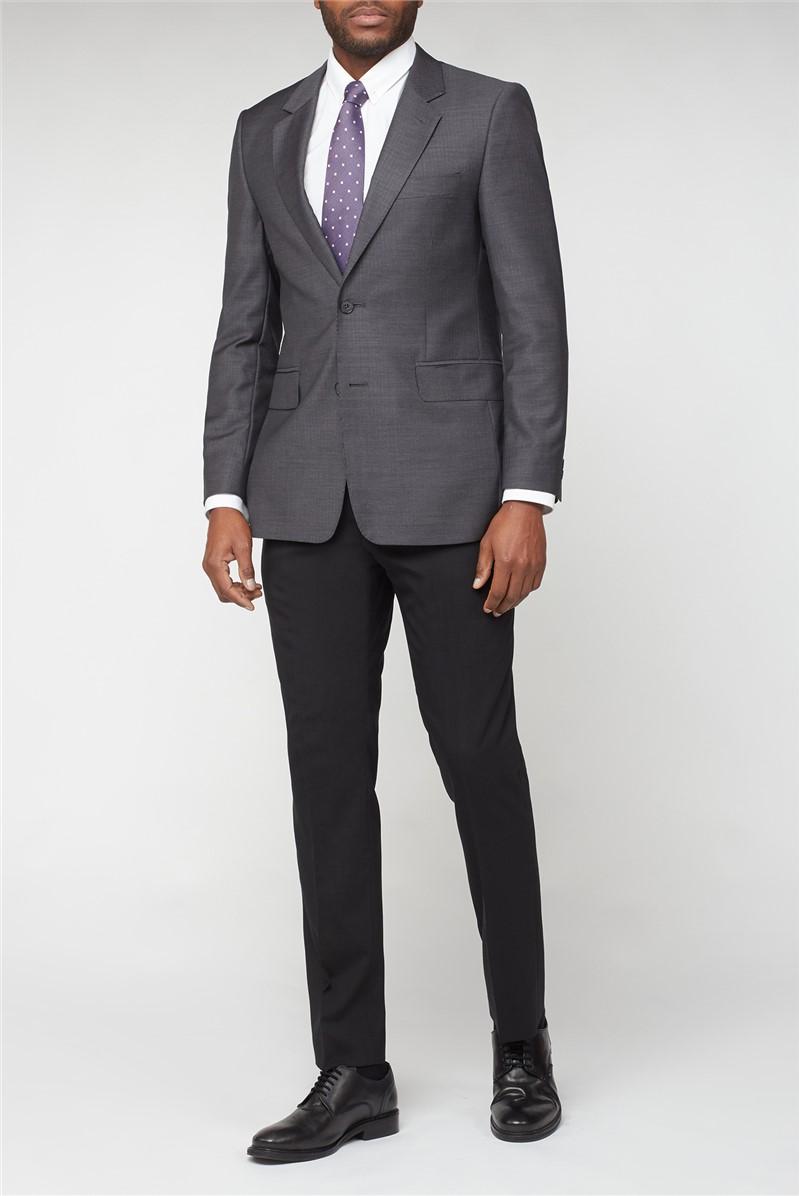 Hammond & Co. Grey Herringbone Tailored Fit Suit Jacket