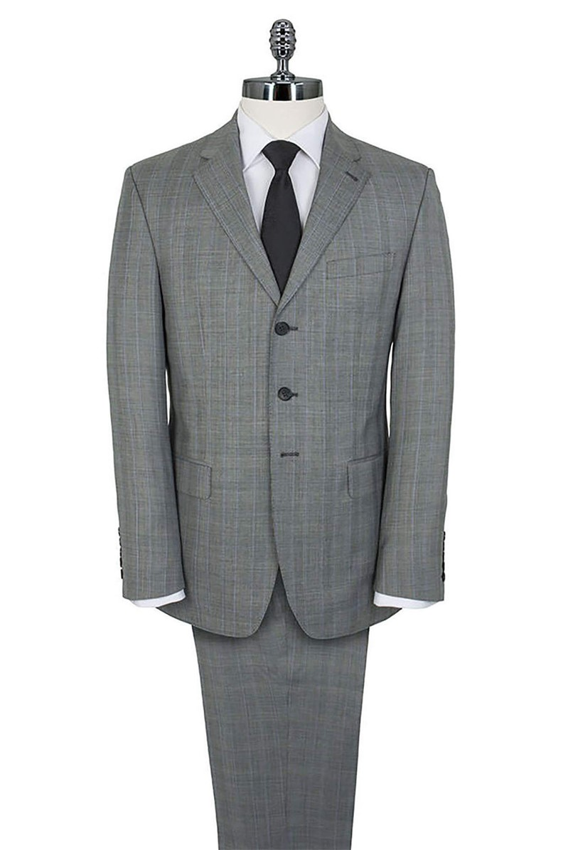 Grey Prince of Wales Check Regular Fit Suit