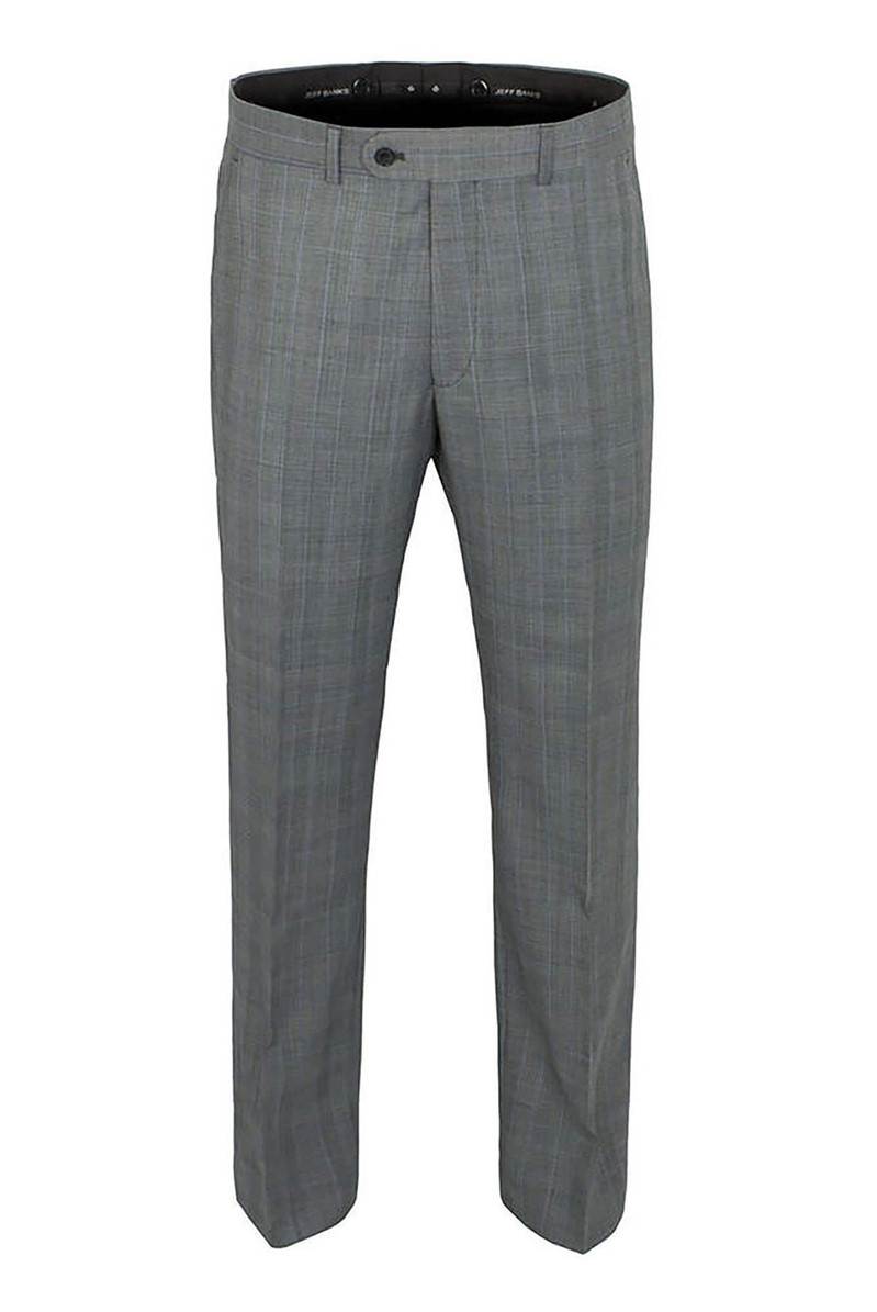 Grey Prince of Wales Check Regular Fit Suit Trouser
