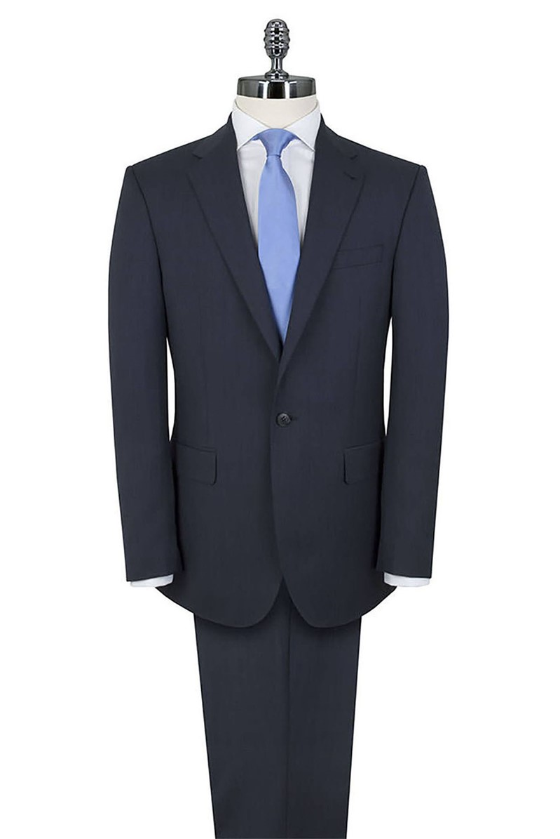 Blue Twill Regular Fit Luxury Suit