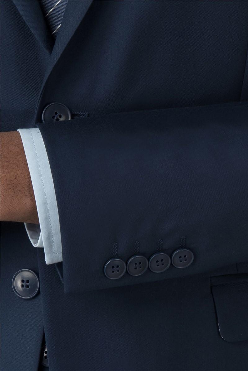 Branded Sapphire Twill Scoop Waistcoat