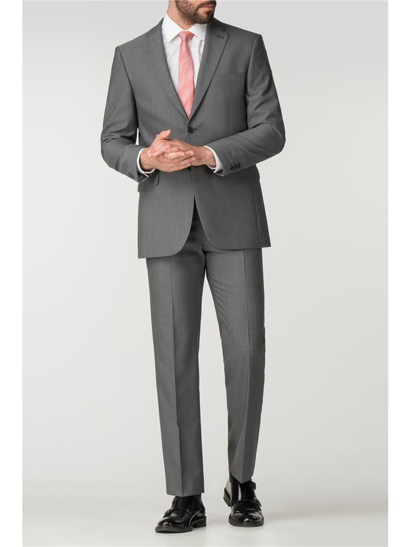 Mid Grey Panama Regular Fit Washable Suit Jacket