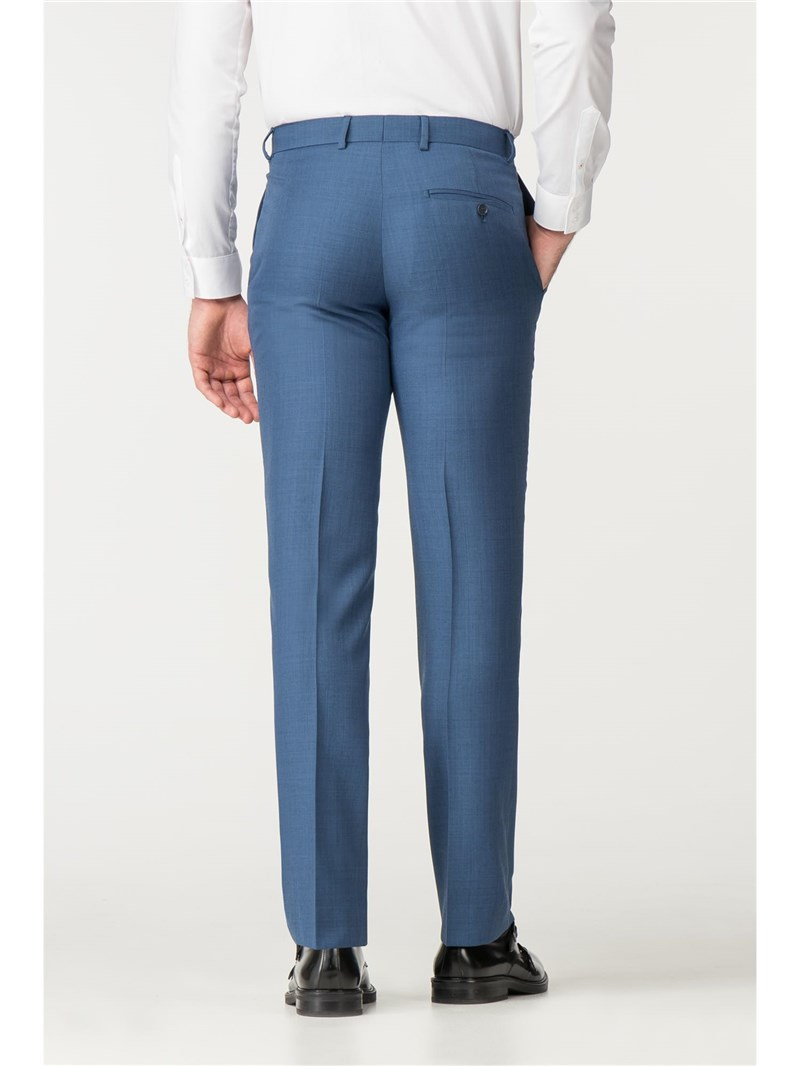 Bright Blue Pick And Pick Tailored Fit Suit Trouser