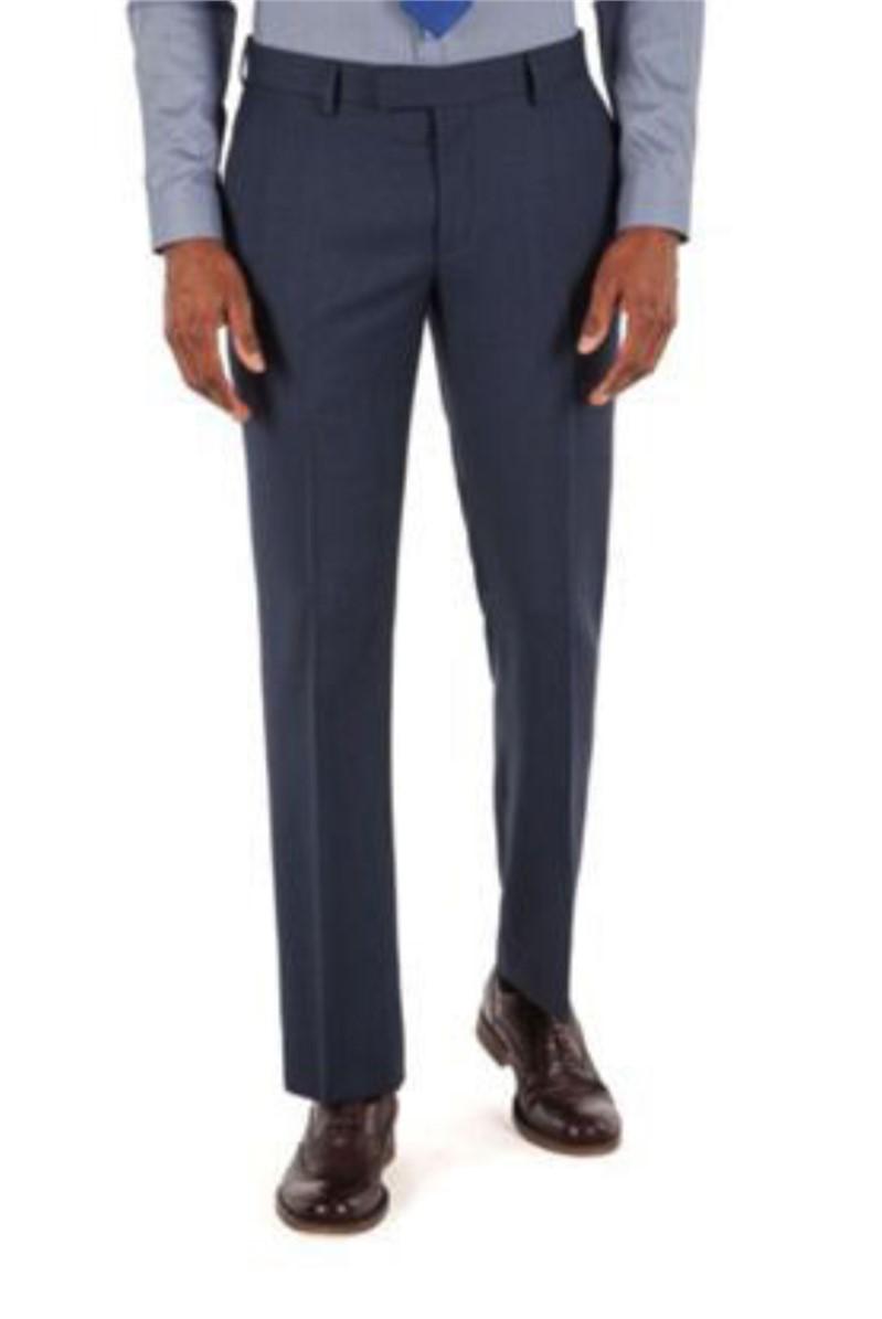 Deep Blue Tonal Check Tailored Fit Suit