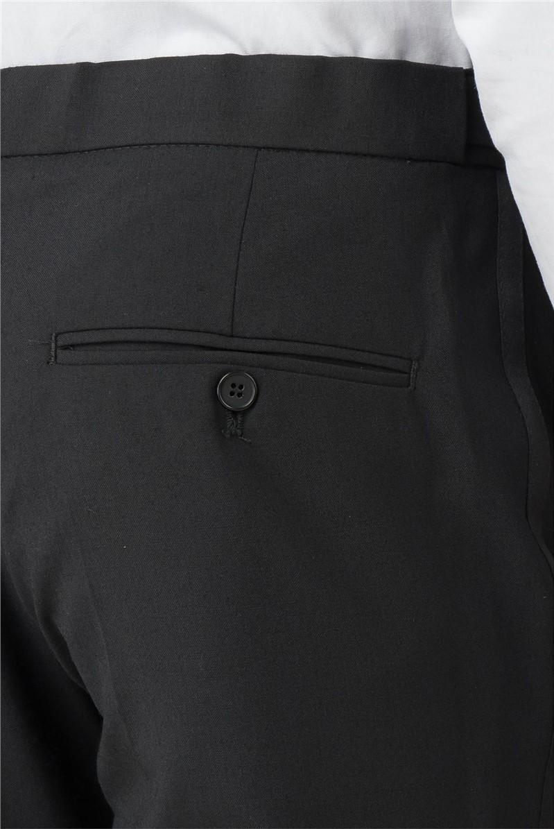 Plain Black Tailored Fit Dresswear Trouser