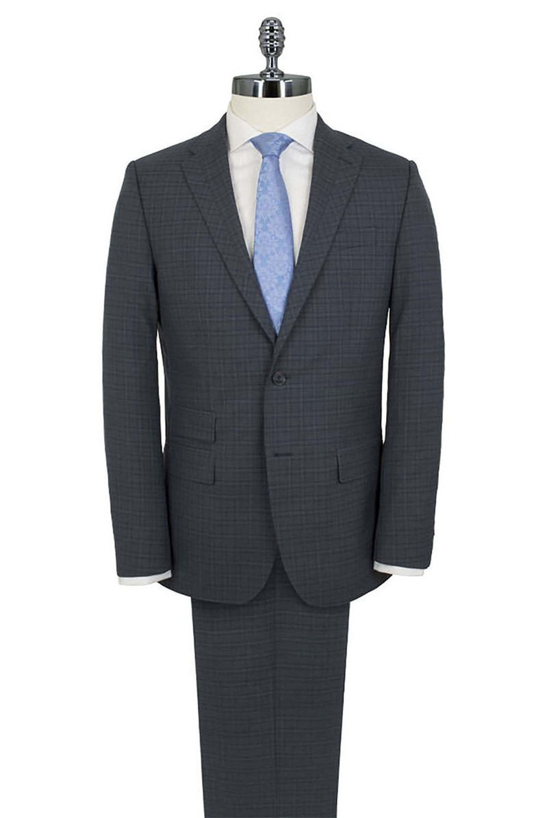Stvdio Airforce Blue Check Tailored Fit Suit