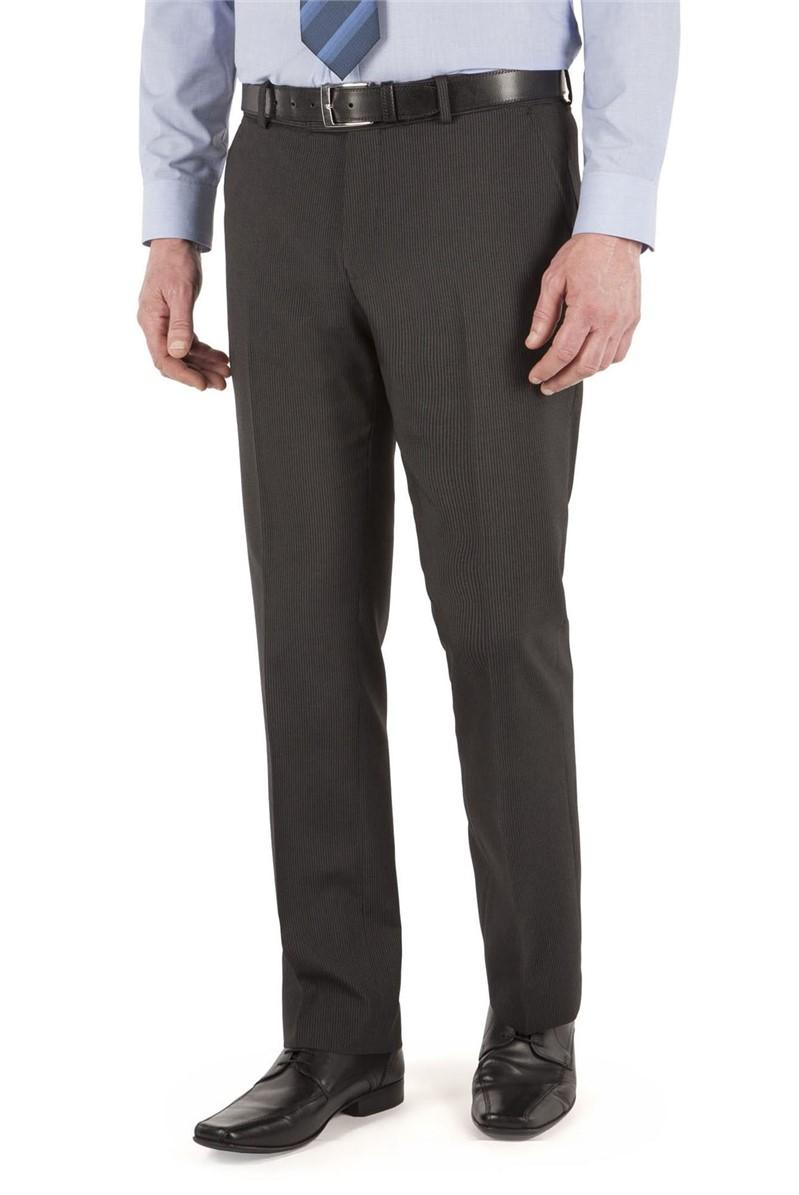 Charcoal Stripe Suit Trouser