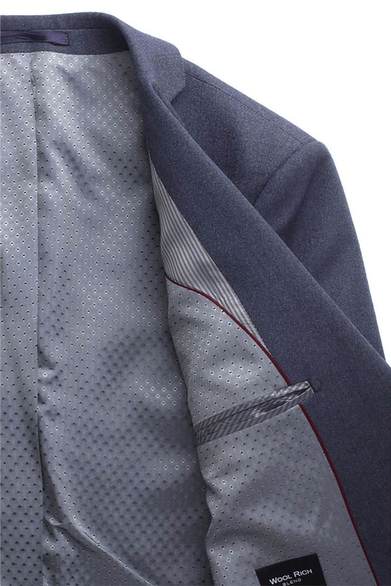 Stvdio Blue Textured Tailored Fit Suit