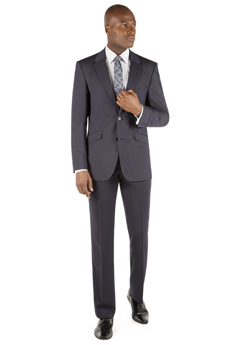 Navy Narrow Stripe Tailored Fit Suit