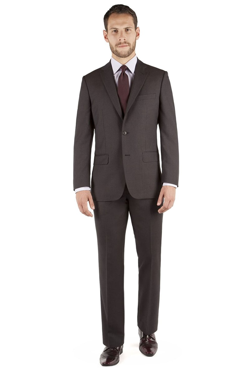 Brown Micro Regular Fit Suit