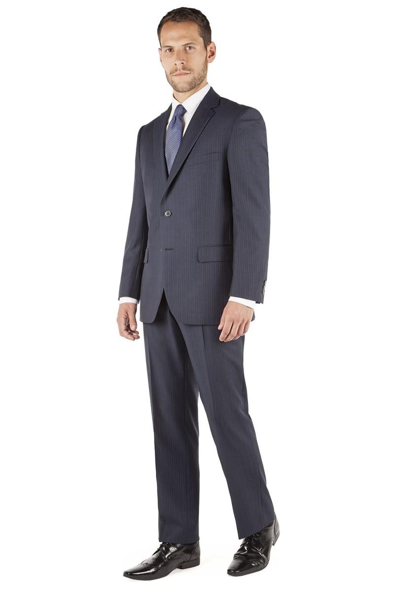 Navy Alt Stripe Regular Fit Suit Jacket